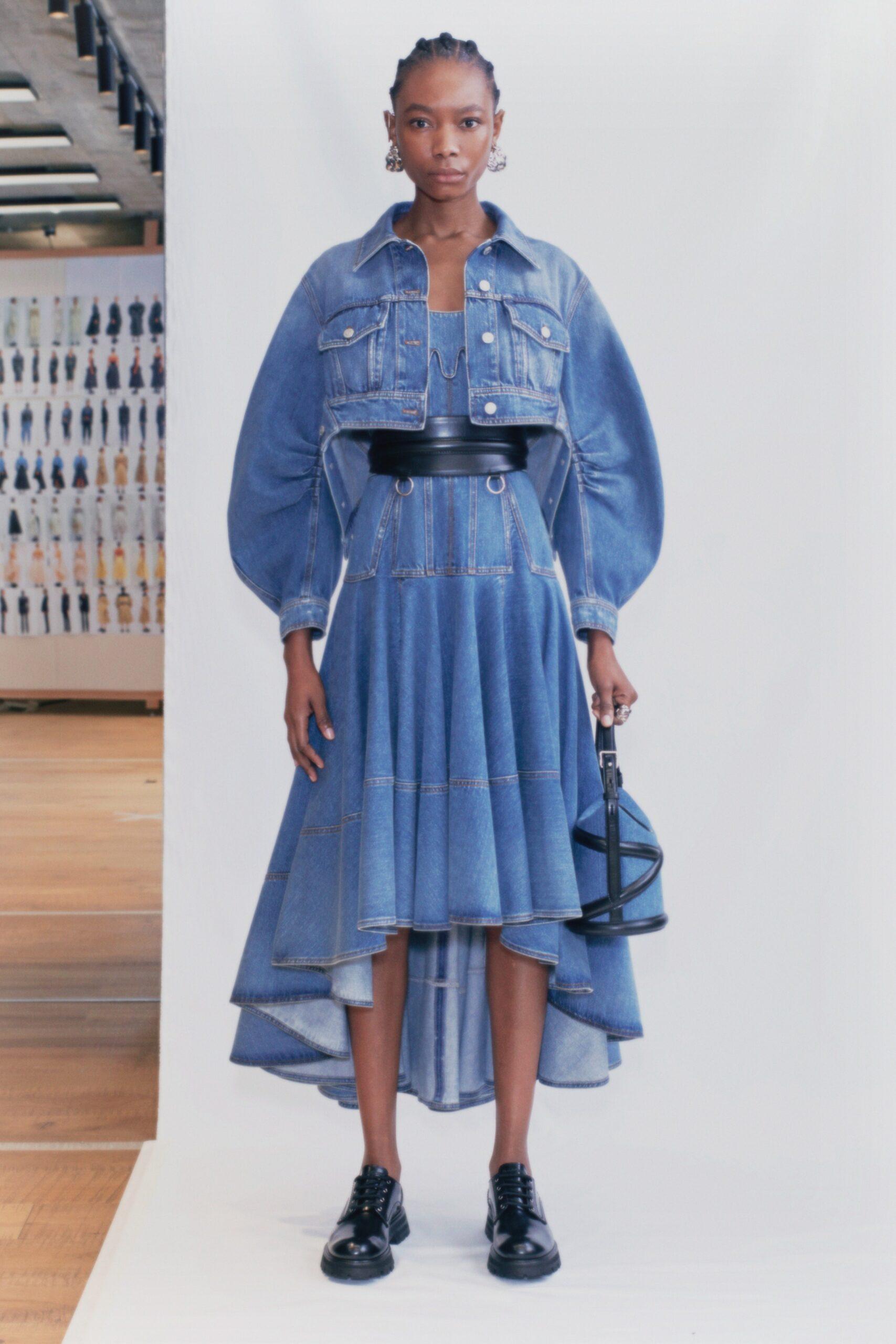 джинсовое платье и куртка