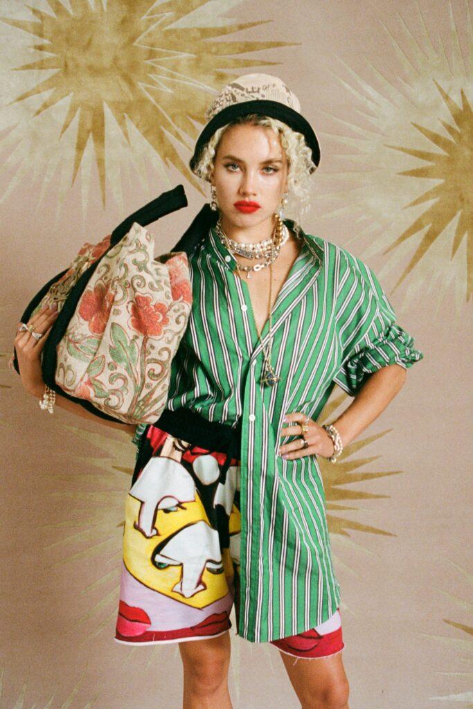 модная объемная большая сумка овесайз тоут шоппер принты