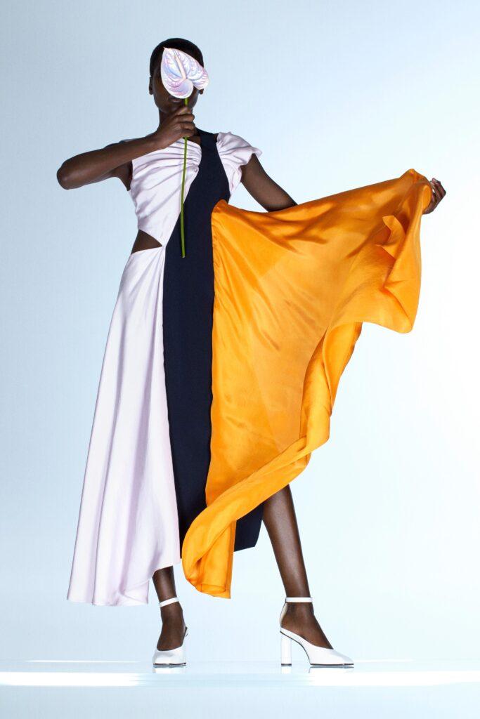 оранжевое платье оранжевый тренд 2021 весна лето мода как носить с чем сочетать
