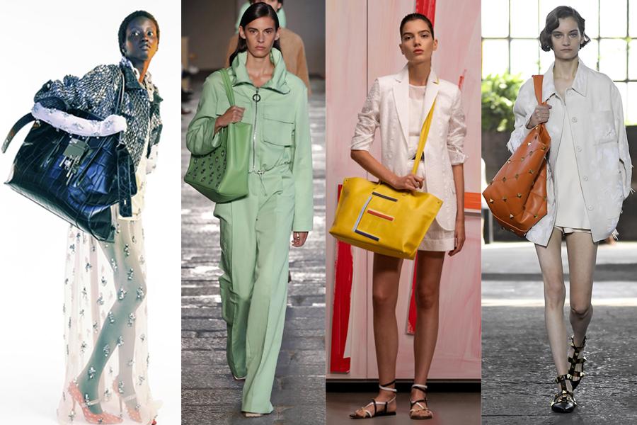 модная объемная большая оранжевая сумка овесайз тоут шоппер кроссбоди