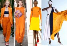 оранжевый тренд 2021 весна лето мода как носить с чем сочетать