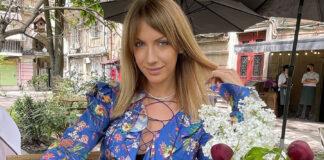 Леся Никитюк платье стрижка модное
