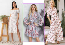 модное цветочное платье в цветы украинский бренд бюджетно недорого