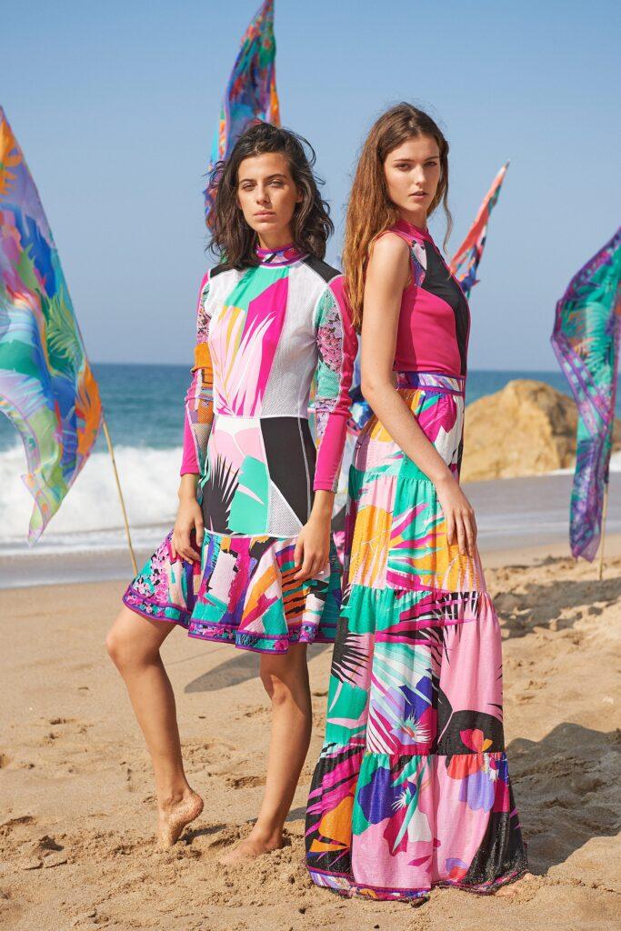 яркие пляжные платья
