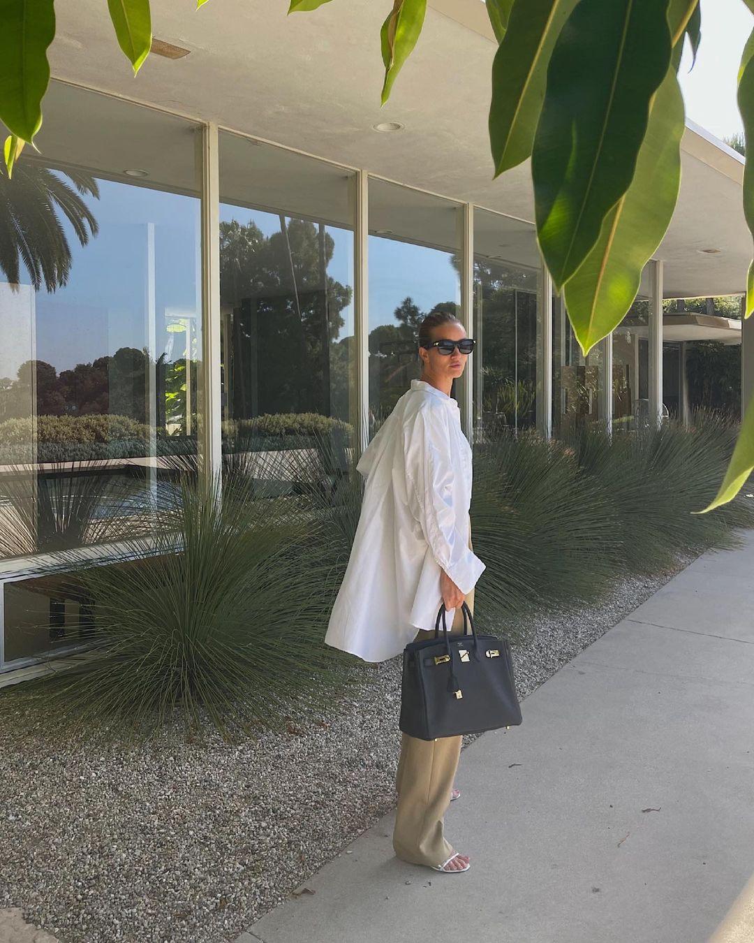 роузи хантингтон-уайтли модель гардероб базовый лето 2021
