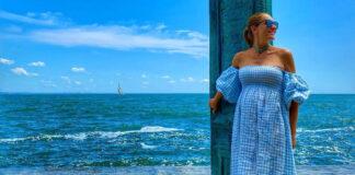 беременная катя осадчая платье на море