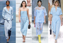 небесно-голубой - модный оттенок лета 2021