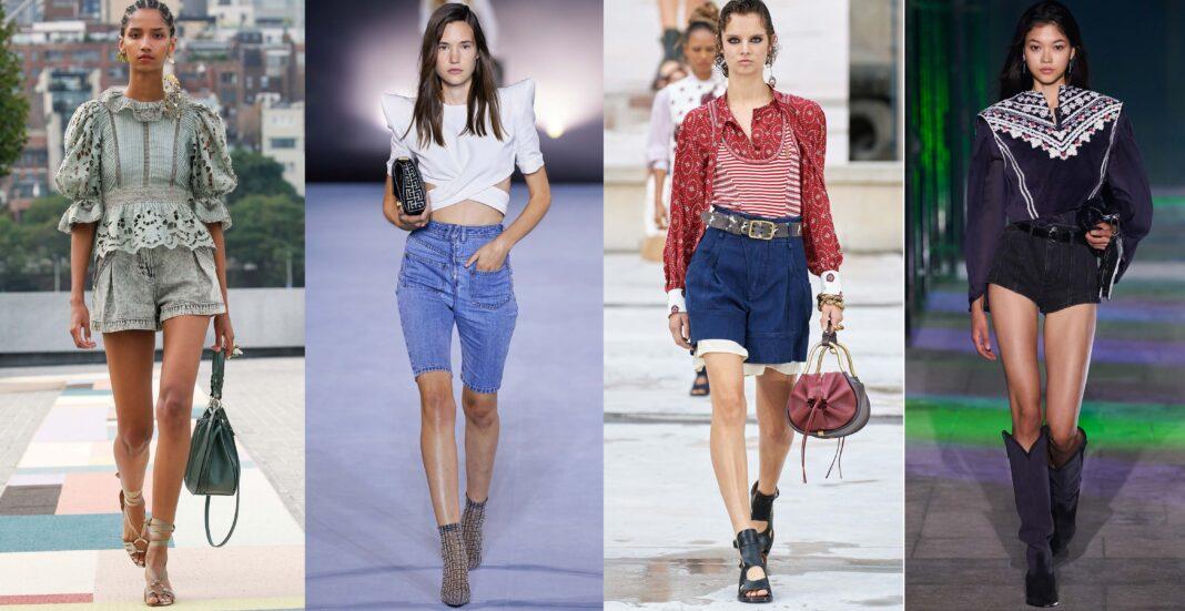 модные джинсовые шорты