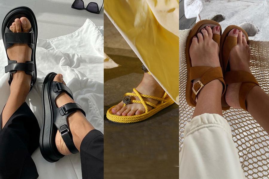 модная обувь лето 2021 на низком ходу плоская подошва без каблука женская