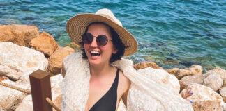 Оля Цибульская в купальнике на море Турция NG Phaselis Bay