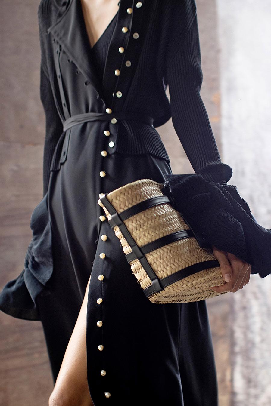 модная женская сумка лето 2021 клатч тоут шоппер пауч из соломки