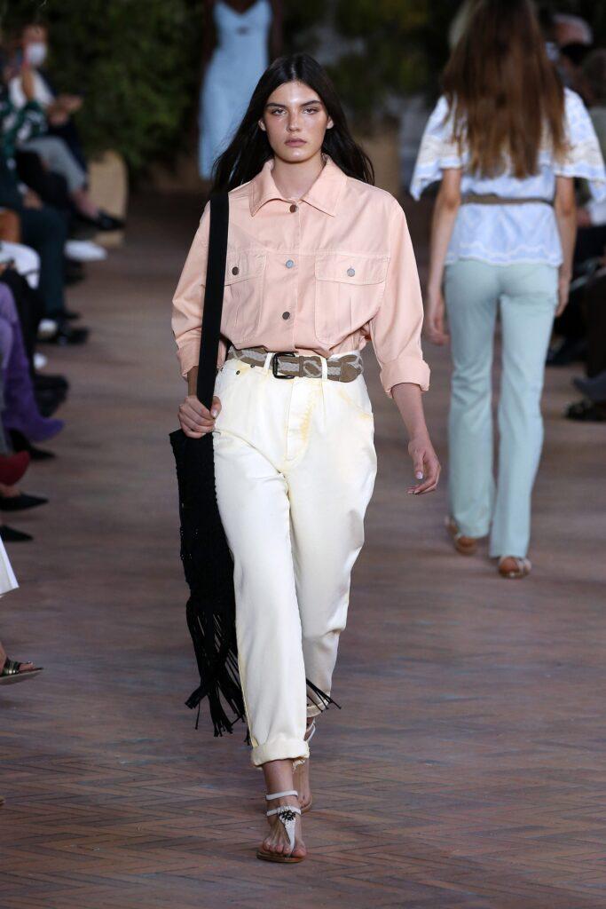 модная рубашка на лето 2021 маскулинная мужская оверсайз персиковая розовая