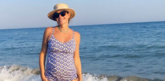 катя осадчая беременна в купальнике на море муж сын турция