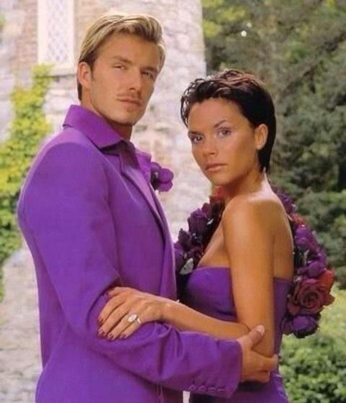 виктория бекхэм дэвид бекхэм годовщина свадьба отношения стильные парные образы