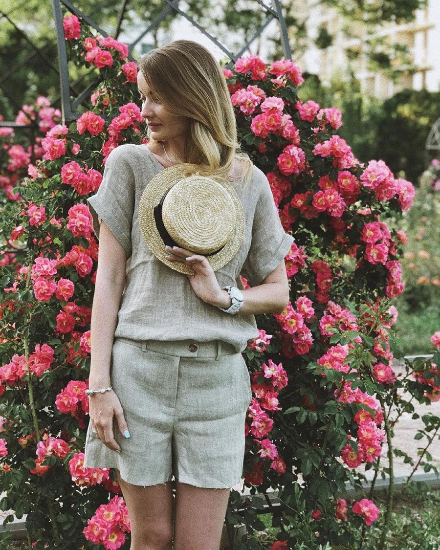 модный костюм лен льняной шорты жакет пиджак рубашка натуральный вареный серый бежевый