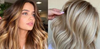 самые модные окрашивания лето осень 2021 блонд для брюнеток балаяж пряди