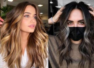 самые модные окрашивания осень 2021 блонд для брюнеток балаяж пряди