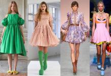 модное платье кукольное беби долл baby doll короткое пышное лето 2021