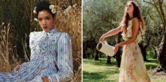 платье коттеджкор cottagecore пасторальное в цветочек мода лето 2021