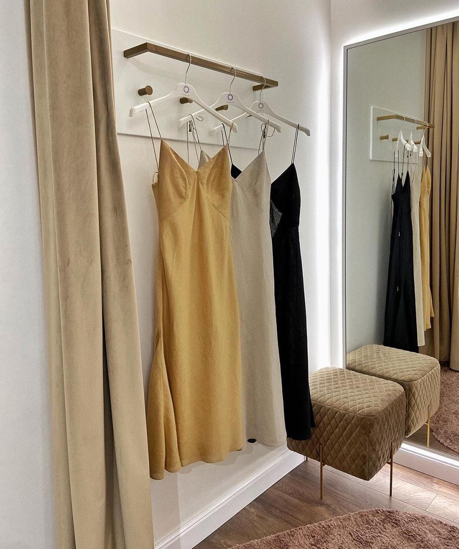 самые модные платья комбинации в бельевом стиле украинские бренды лето 2021 миди льняное сарафан черное желтое бежевое