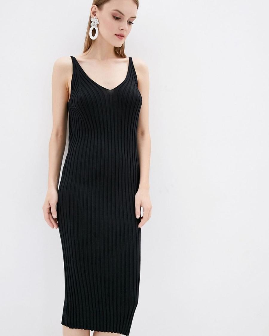 самые модные платья комбинации в бельевом стиле украинские бренды лето 2021 миди трикотажное сарафан черное