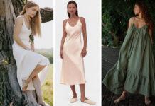 самые модные платья комбинации в бельевом стиле украинские бренды лето 2021