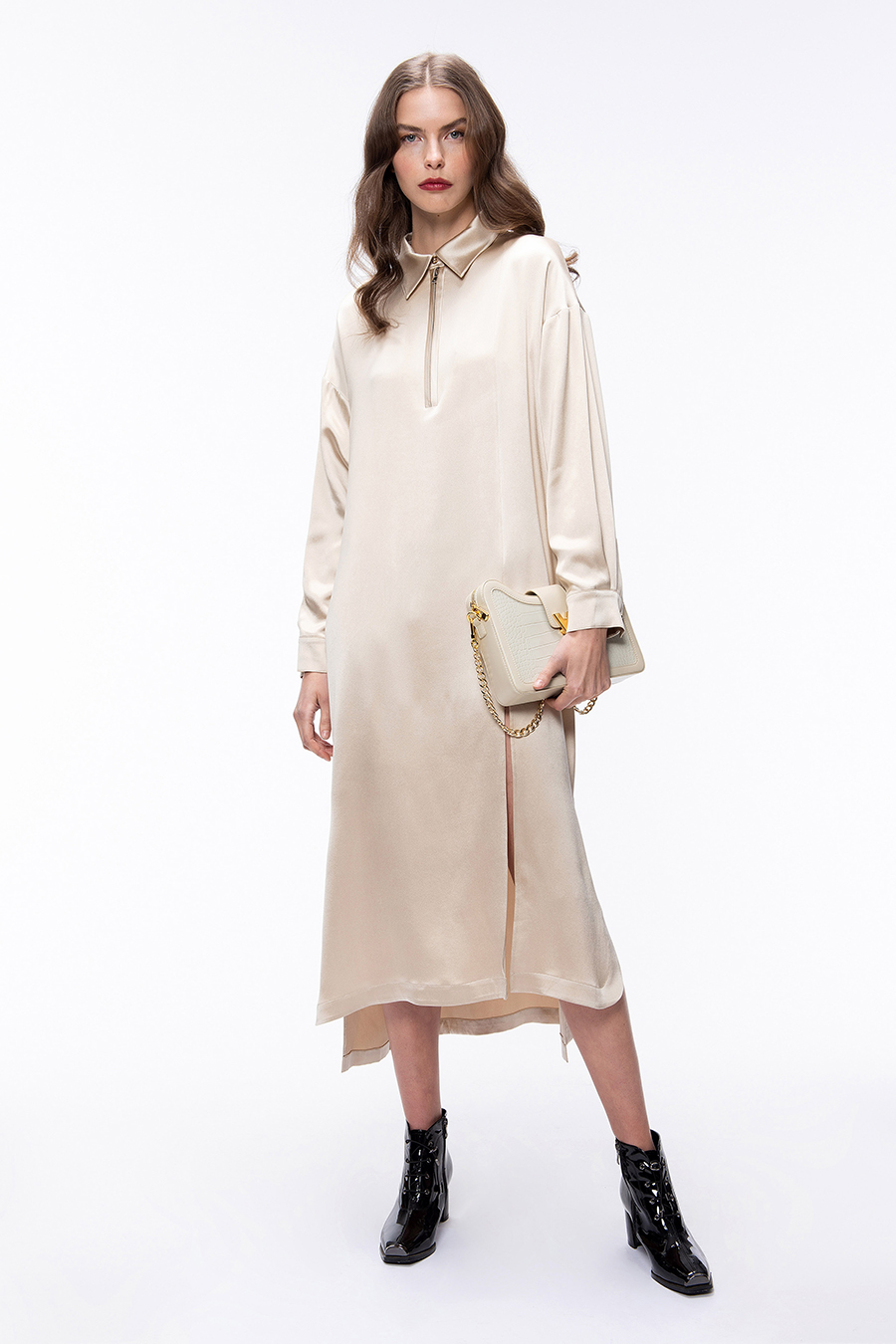 самые модные платья осень зима 2021 2022 худи свитер бежевое миди