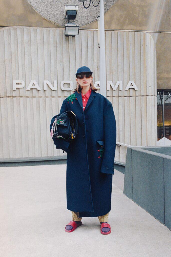 модное пальто осень 2021 оверсайз длинное макси синее