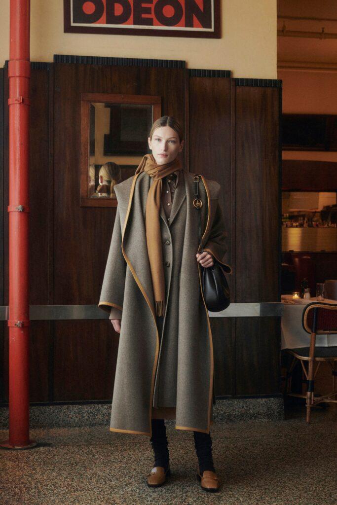 модное пальто осень 2021 миди оверсайз серое