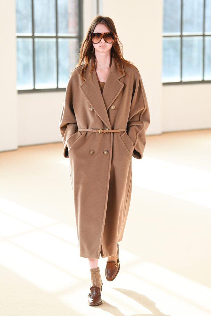 модное пальто осень 2021 миди бежевое кемел оверсайз