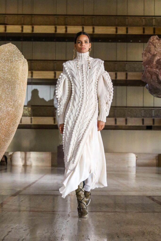 длинные трикотажные платья