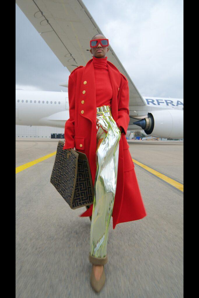 модное пальто осень 2021 миди макси длинное красное