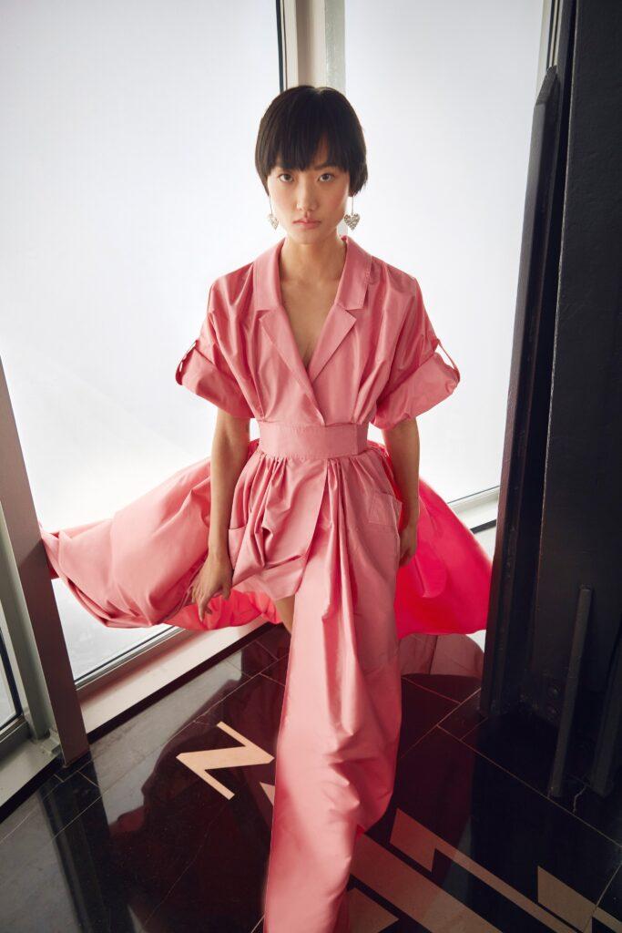 самый модный комбинезон осень зима 2021 2022 розовый