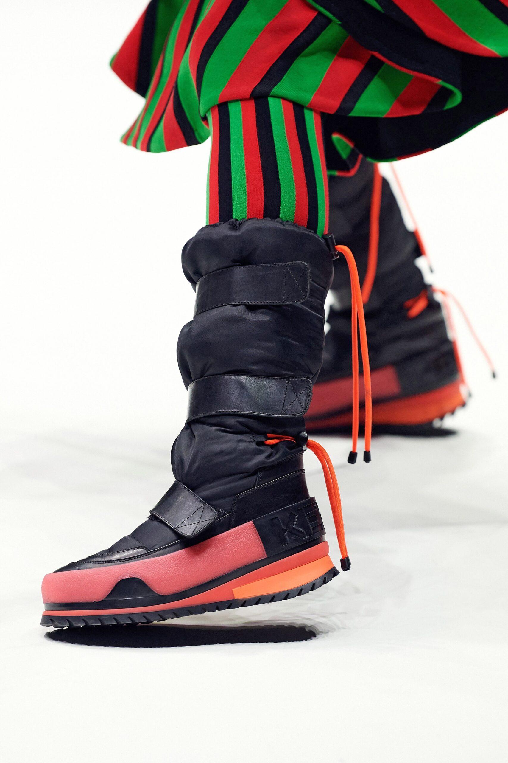 модные сапоги осень зима 2021 2022 спортивные кеды кроссовки черные