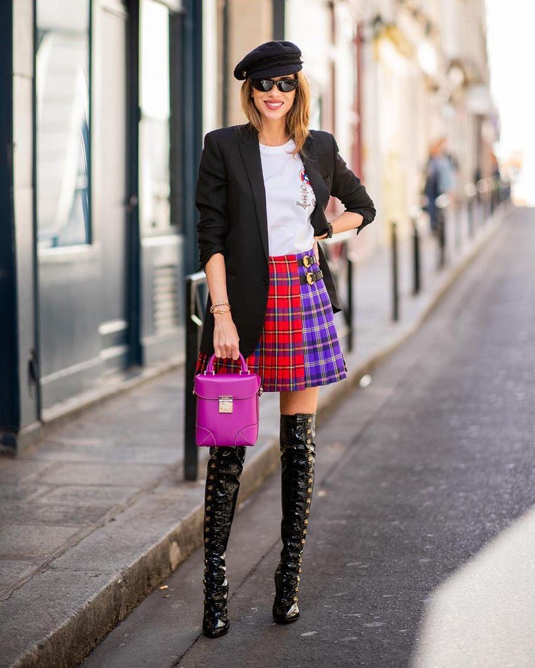 модная юбка плиссировка как стильно носить осень 2021 тренд миди