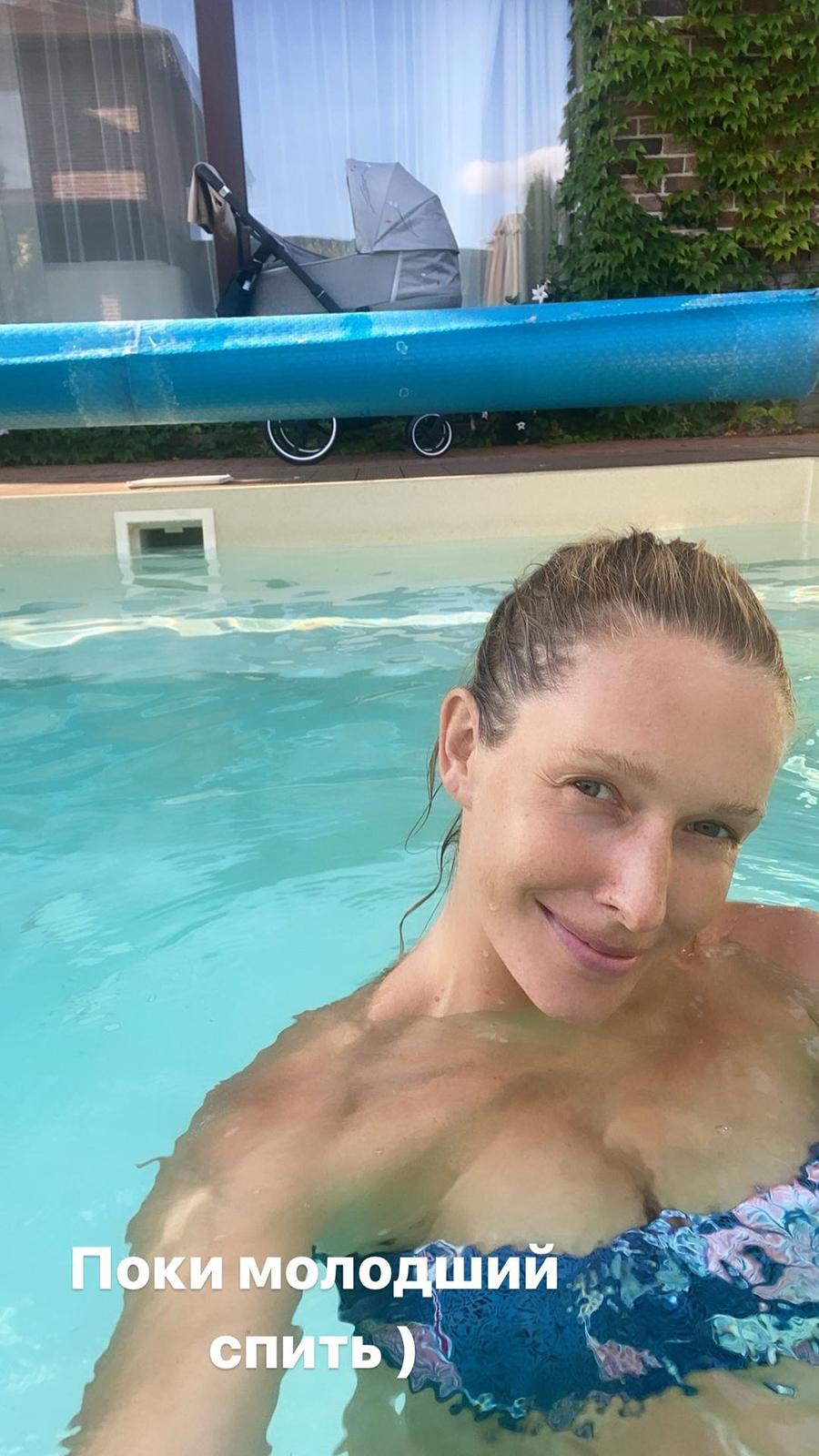 катя осадчая фигура в купальнике после родов