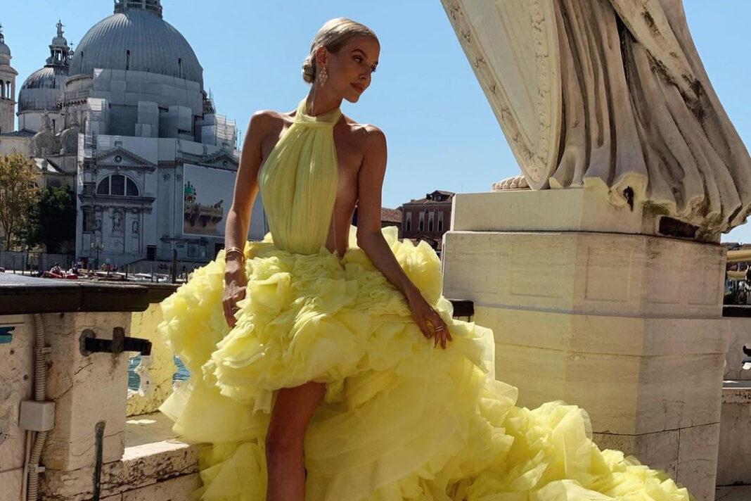 леони ханне платье украинский брендвечернее венецианский кинофестиваль