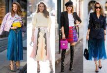 модная юбка плиссировка как стильно носить осень 2021 тренд