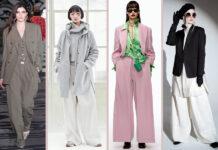 модные брюки широкие клеш оверсайз осень 2021