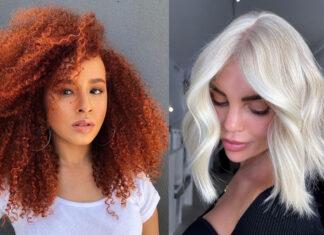 модное окрашивание осень 2021 для брюнеток блондинок рыжий