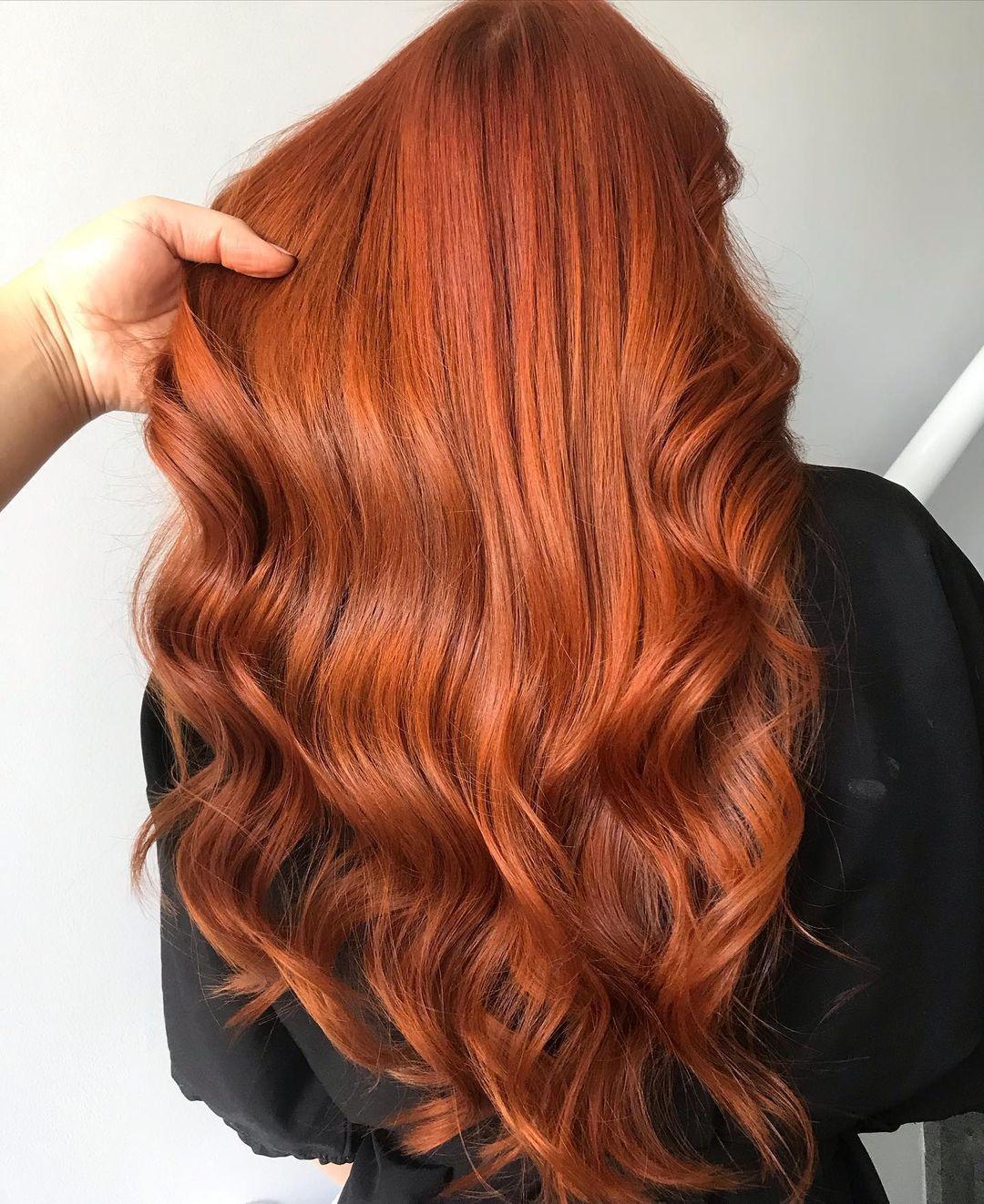 модное окрашивание осень 2021 для блондинок рыжий медный