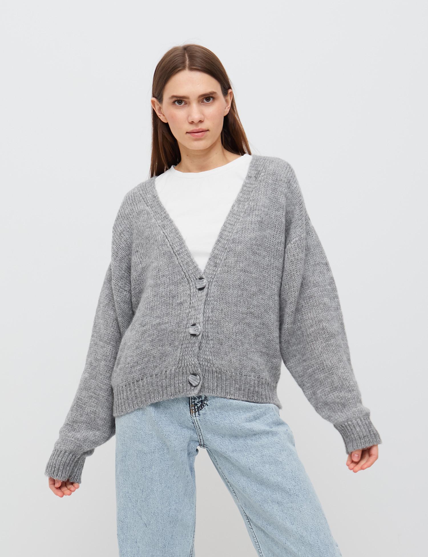 модный кардиган осень зима 2021 украинский бренд серый