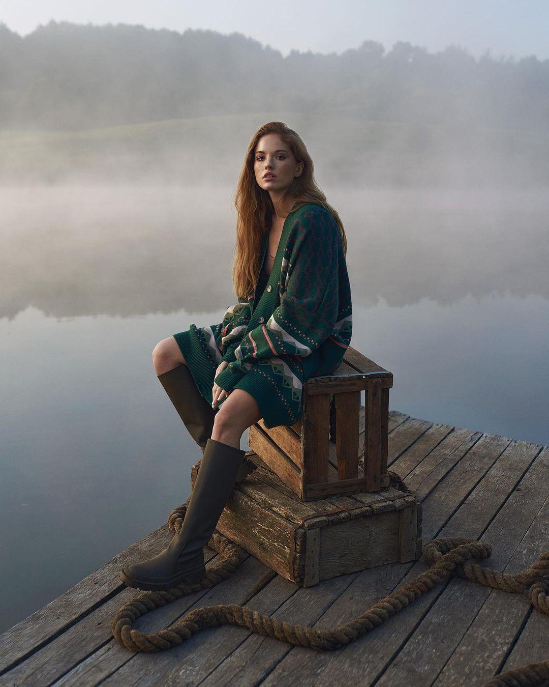 модный кардиган осень зима 2021 украинский бренд зеленый длинный оверсайз принт ромбы