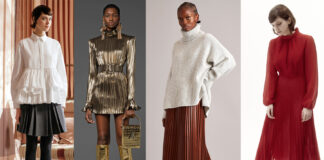 плиссировка плиссированная юбка платье блуза модный тренд осень 2021