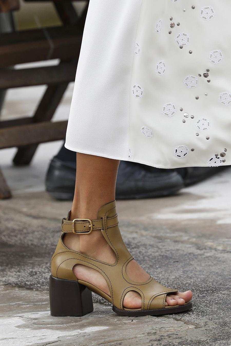 босоножки туфли лето весна 2021 широкий устойчивый каблук коричневые бежевые хаки