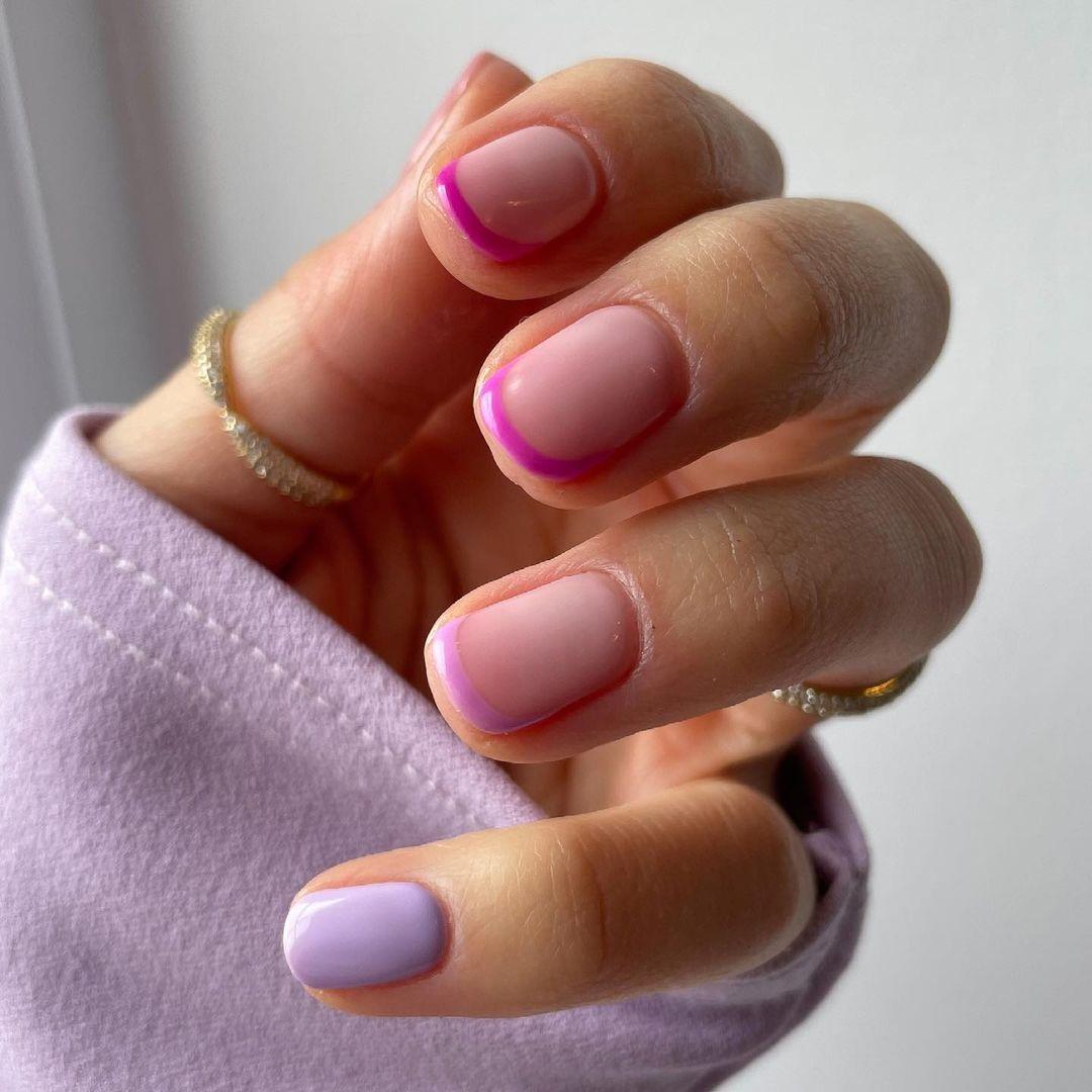 маникюр тренд лето 2021 пастель светлый френч розовый